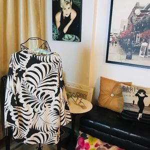 H&M Black and White Casual Cool Dress